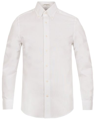 The Pinpoint Oxford Fitted Body Shirt White