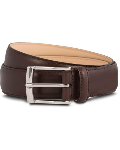 Crockett & Jones Belt 3,2 cm Dark Brown Calf i gruppen Assesoarer / Belter / Umønstrede belter hos Care of Carl (12051611r)