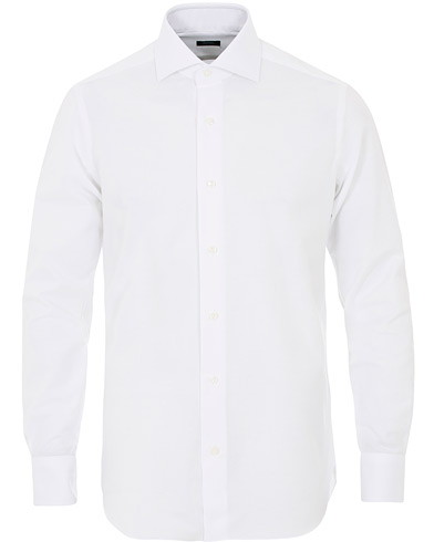 Barba Napoli Slim Fit Oxford Shirt White