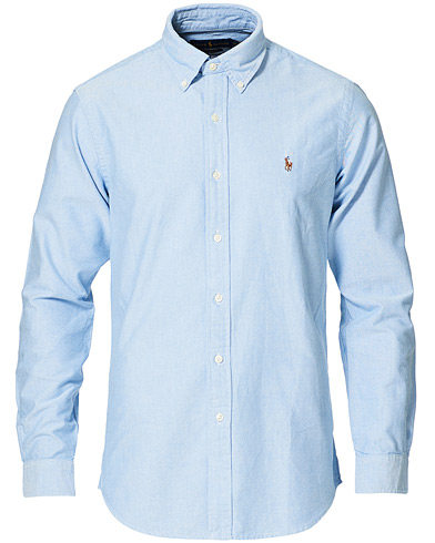 Polo Ralph Lauren Custom Fit Shirt Oxford Blue i gruppen Klær / Skjorter / Casual / Oxfordskjorter hos Care of Carl (12144811r)