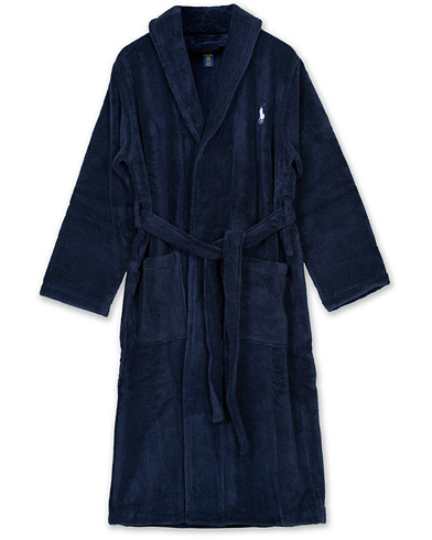 Polo Ralph Lauren Shawl Robe Navy i gruppen Klær / Pyjamaser & Badekåper / Morgenkåper hos Care of Carl (12187111r)