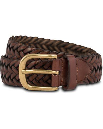 Morris Braided Belt 3,5 cm Cognac