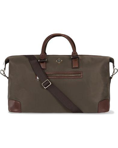 J.Lindeberg S-Bag 50001 Nylon/Leather Weekendbag Military Green