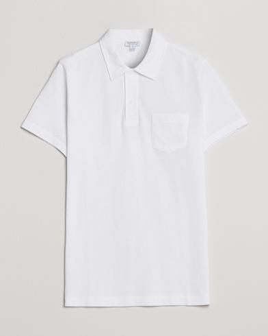 Sunspel Riviera Polo Shirt White