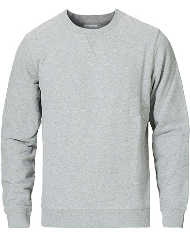 Sunspel Loopback Sweatshirt Grey Melange i gruppen Klær / Gensere / Sweatshirts hos Care of Carl (12246211r)