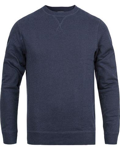 Sunspel Loopback Sweatshirt Navy Melange