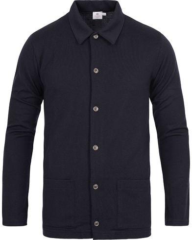 Sunspel Vintage Merino Wool Jacket Navy