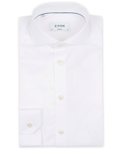 Eton Super Slim Fit Shirt Cutaway White i gruppen Klær / Skjorter / Formelle / Businesskjorter hos Care of Carl (12283911r)