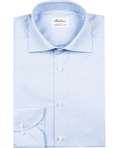 Stenströms Superslim Structured Shirt Blue/White