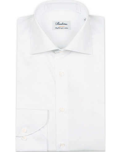 Stenströms Superslim Plain Shirt  White i gruppen Klær / Skjorter / Formelle / Businesskjorter hos Care of Carl (12289711r)