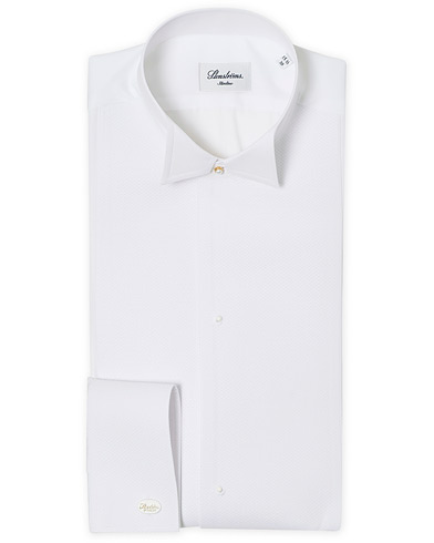 Stenströms Slimline Astoria Stand Up Collar Evening Shirt White i gruppen Klær / Skjorter / Formelle / Smokingskjorter hos Care of Carl (12291511r)