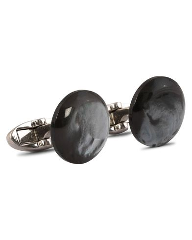 Stenströms Mother of Pearl Cufflink Grey i gruppen Assesoarer / Mansjettknapper hos Care of Carl (12291710)
