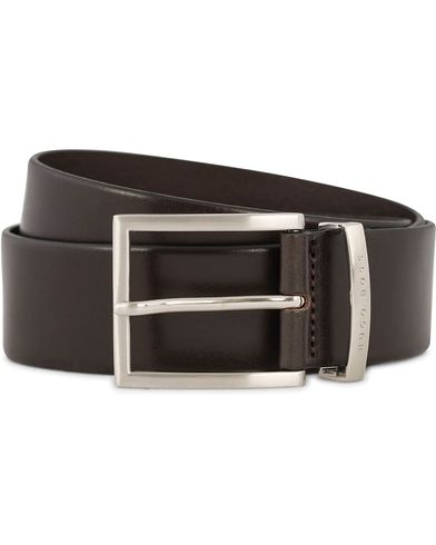 BOSS Buddy Leather Jeans Belt 4 cm Medium Brown i gruppen Assesoarer / Belter / Umønstrede belter hos Care of Carl (12310011r)