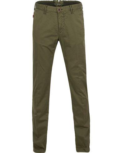 Incotex Slim Fit Stretch Slacks Army Green