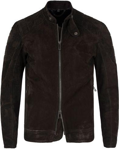 Belstaff Leamington Suede Jacket Black