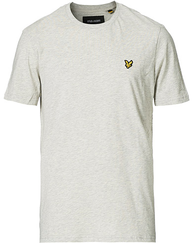 Lyle & Scott Crew Neck Tee Light Grey Marl i gruppen Klær / T-Shirts / Kortermede t-shirts hos Care of Carl (12470911r)