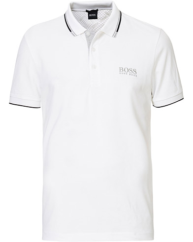BOSS Athleisure Paddy Pro Polo White i gruppen Klær / Pikéer / Kortermet piké hos Care of Carl (12487511r)