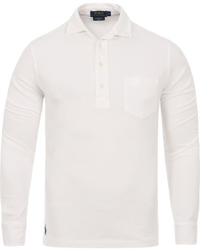 Polo Ralph Lauren Featherweight Long Sleeve Mesh Polo White