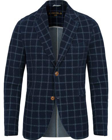 Circolo 1901 Jersey Check Club Blazer Indigo