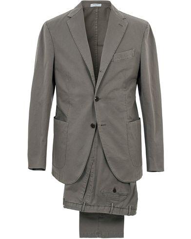 Boglioli Coat Patch Pocket Cotton/Linen Suit Light Grey