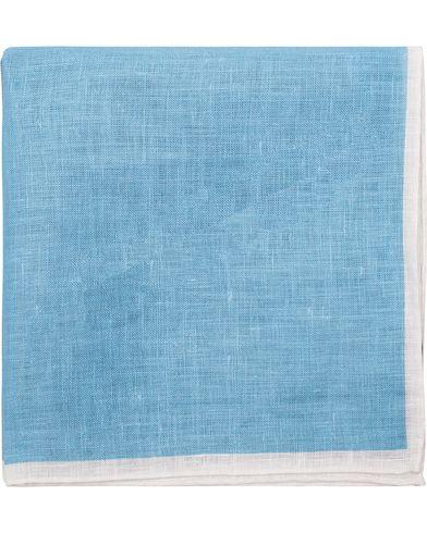 Amanda Christensen Patch Linen Pocket Square Blue