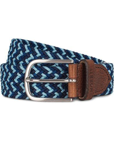 Morris Stretch Multi 3,5 cm Belt Blue