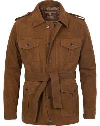 Morris Heritage Suede Millard Jacket Camel