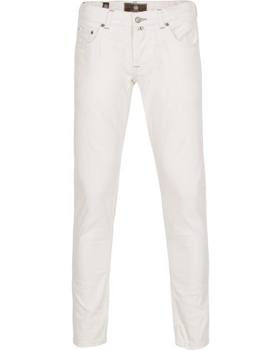Morris Heritage Raw Jeans Off White