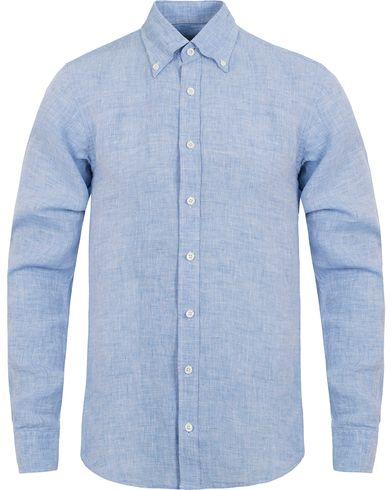 Oscar Jacobson Harry Slim Fit Button Down Shirt Light Blue