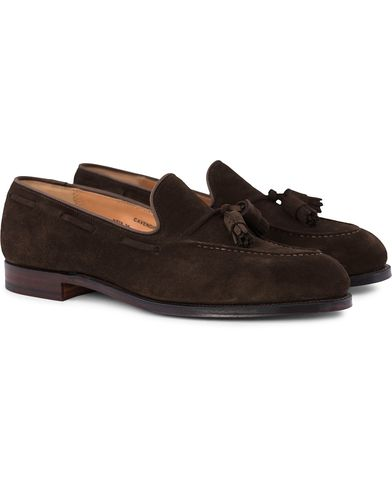 Crockett & Jones Cavendish Tassel Loafer Dark Brown Suede