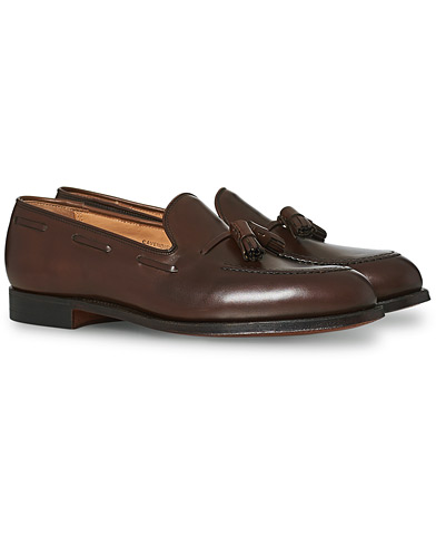Crockett & Jones Cavendish Tassel Loafer Dark Brown Calf