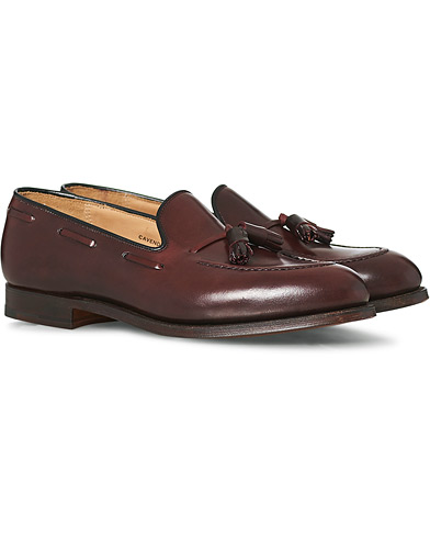 Crockett & Jones Cavendish Tassel Loafer Burgundy Cordovan  i gruppen Sko / Loafers hos Care of Carl (12680511r)