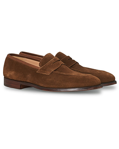 Crockett & Jones Sydney Loafer Snuff Suede i gruppen Sko / Loafers hos Care of Carl (12681111r)