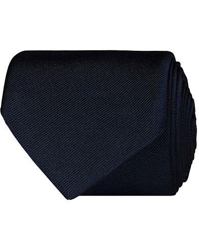 BOSS Tie 7,5 cm Silk Tie Dark Blue  i gruppen Assesoarer / Slips hos Care of Carl (12734110)