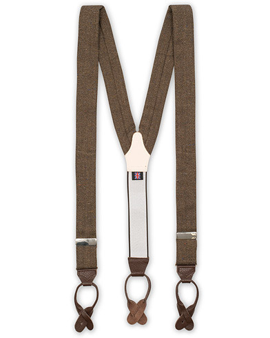 Albert Thurston Donegal Tweed Braces 40 mm Dark Brown  i gruppen Assesoarer / Bukseseler hos Care of Carl (12740310)