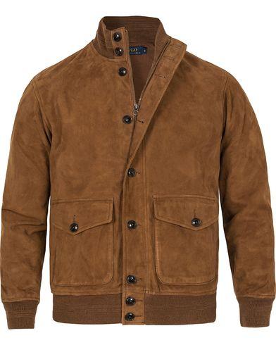 Polo Ralph Lauren Skeet Suede Jacket Santa Ana Snuff