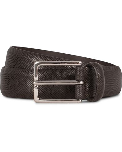 Anderson's Dressed Leather 3 cm Belt Brown Grained