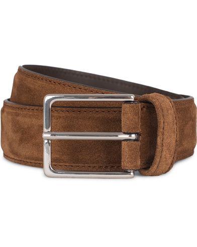 Anderson's Plain 3,5 cm Belt Polo Suede Brown
