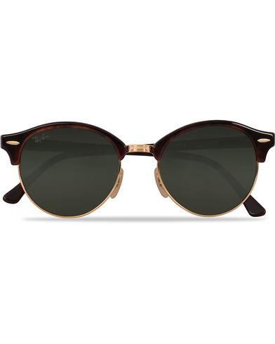 Ray-Ban 0RB4246 Clubround Sunglasses Red Havana/Green  i gruppen Assesoarer / Solbriller / Runde solbriller hos Care of Carl (12748510)