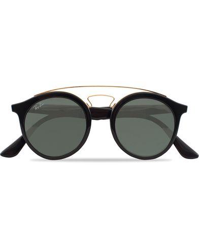 Ray-Ban RB4256 Round Sunglasses Black/Dark Green