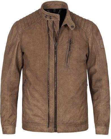 Belstaff Leigham Suede Jacket Light Brown