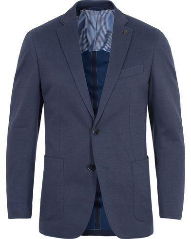 Hackett Jersey Blazer Dusty Blue