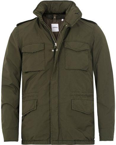 Aspesi Garment Dyed Field Jacket Military Green