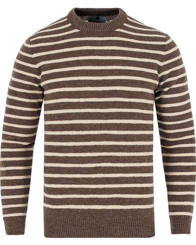 NN07 Mike Striped Knitted Sweater Brown/White