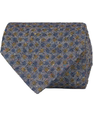 Stenströms Dot Silk/Cotton 8 cm Tie Blue
