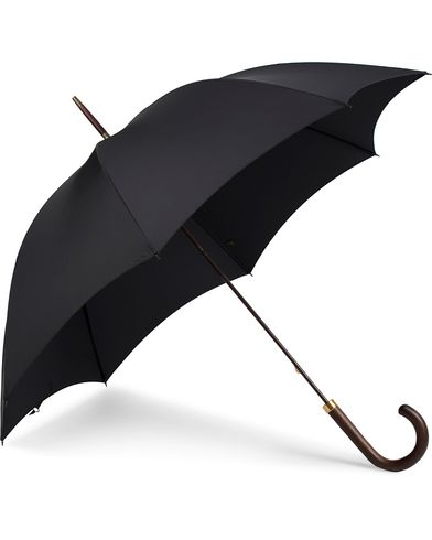 Fox Umbrellas Polished Hardwood Umbrella Black  i gruppen Assesoarer / Paraplyer hos Care of Carl (13074910)
