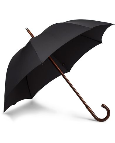 Fox Umbrellas Polished Cherrywood Solid Umbrella Black