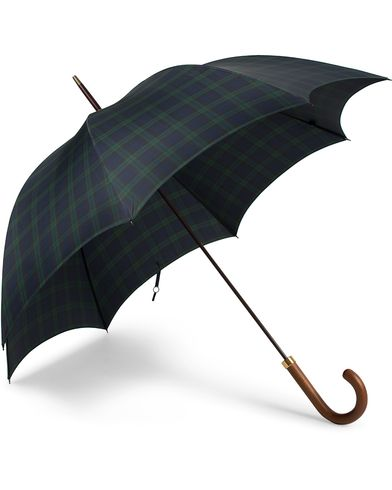 Fox Umbrellas Hardwood Umbrella Blackwatch Tartan  i gruppen Assesoarer / Paraplyer hos Care of Carl (13075110)