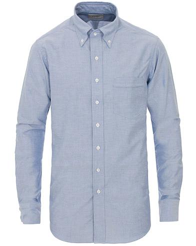 Drake's Slim Fit Oxford BD Shirt Blue
