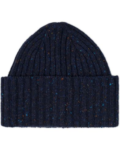 Drake's Donegal Wool Hat Navy